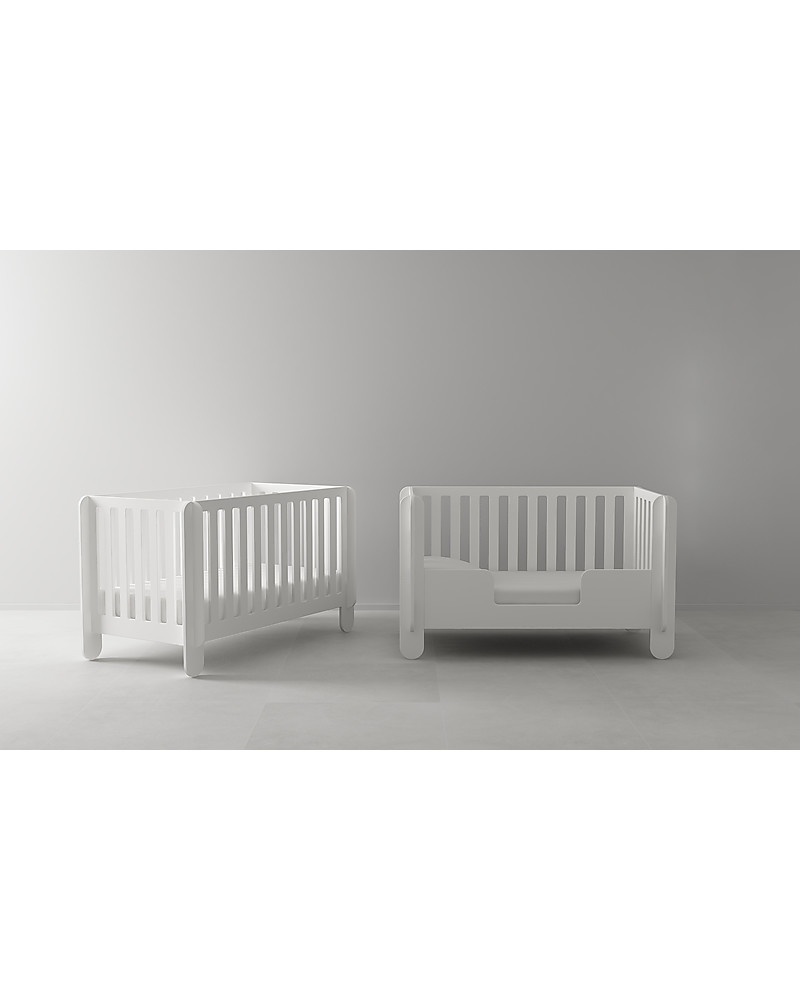 oeuf elephant conversion kit white u2013 from crib to toddler bed 140 x 70