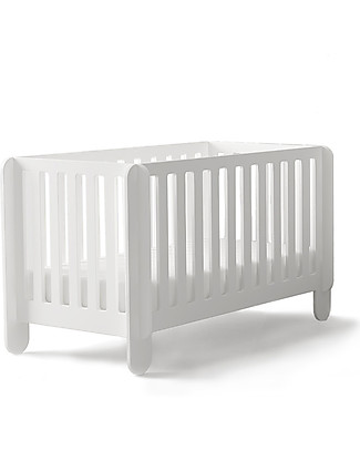 Oeuf Elephant Crib, White - The crib you can assemble in 10 minutes! Cots & Cotbeds