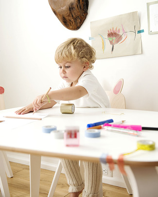 Oeuf Junior Play Table - White Laminate Tables And Chairs