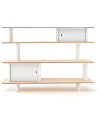 Oeuf Mini Library (White / Birch) Bookcases
