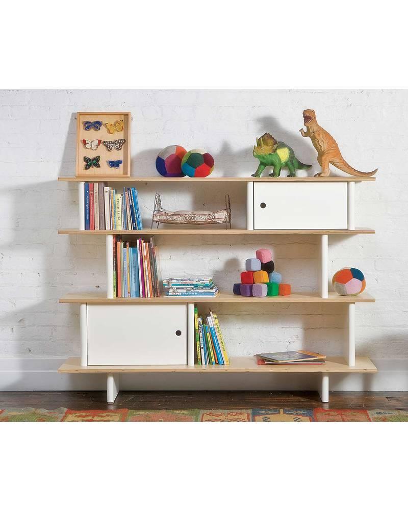 Oeuf Mini Library (White / Birch) Bookcases