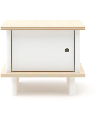 Oeuf ML Night Stand - White/Birch Dressers