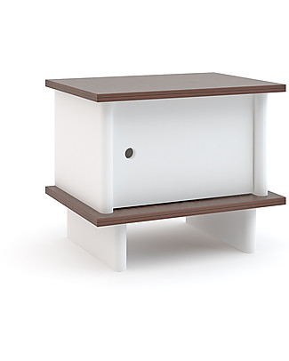 Oeuf ML Night Stand - White/Walnut Dressers
