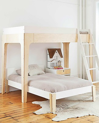 Oeuf Perch Loft Bed - Birch Wood Bunk Beds