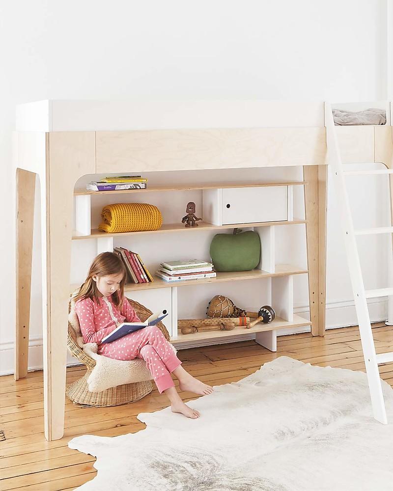 Oeuf Perch Loft Bed Birch Wood Unisex Bambini