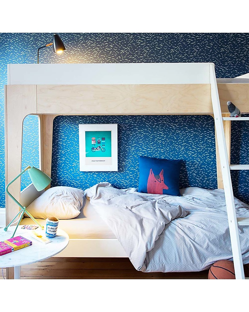 Letto A Castello Twins.Oeuf Perch Twin Bed Birch Wood Unisex Bambini