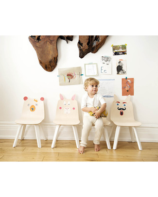 Oeuf Rabbit Ears Play Chair - Set of 2 - Birch Chairs