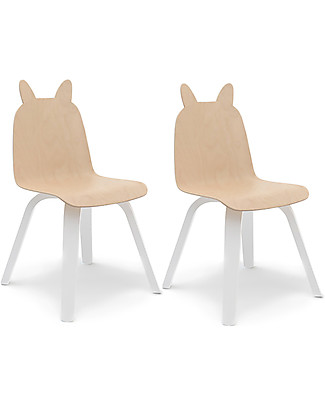 Oeuf Rabbit Ears Play Chair - Set of 2 - Birch null