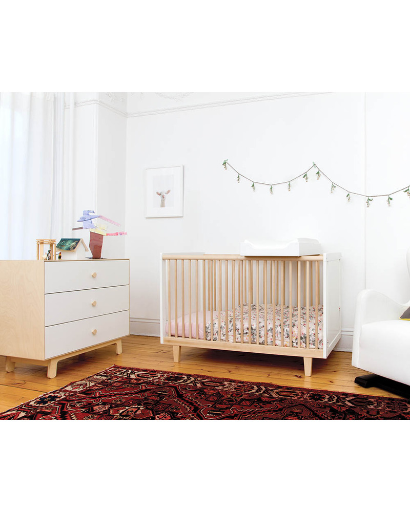 Baby bed turns into toddler bed - Oeuf Rhea Crib Birch Converts Into Rhea Toddler Bed Cots Cotbeds