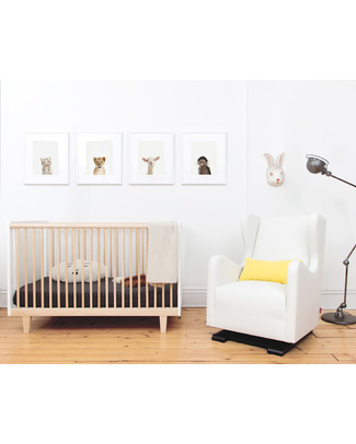 Oeuf Rhea Crib - Walnut (converts into Rhea Toddler Bed) Cots & Cotbeds