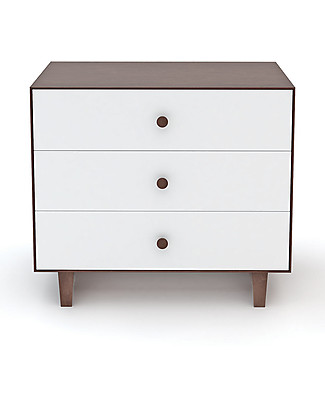 Oeuf Rhea Merlin 3 Drawer Dresser White & Walnut Dressers