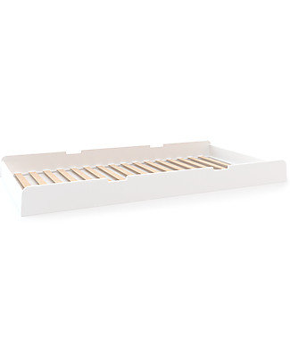 Oeuf River Trundle Bed  - White Single Bed