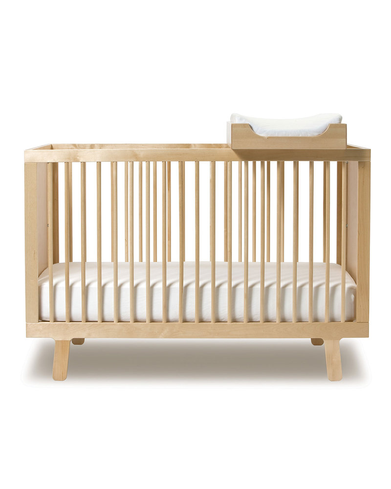 Oeuf Sparrow Crib Birch Converts