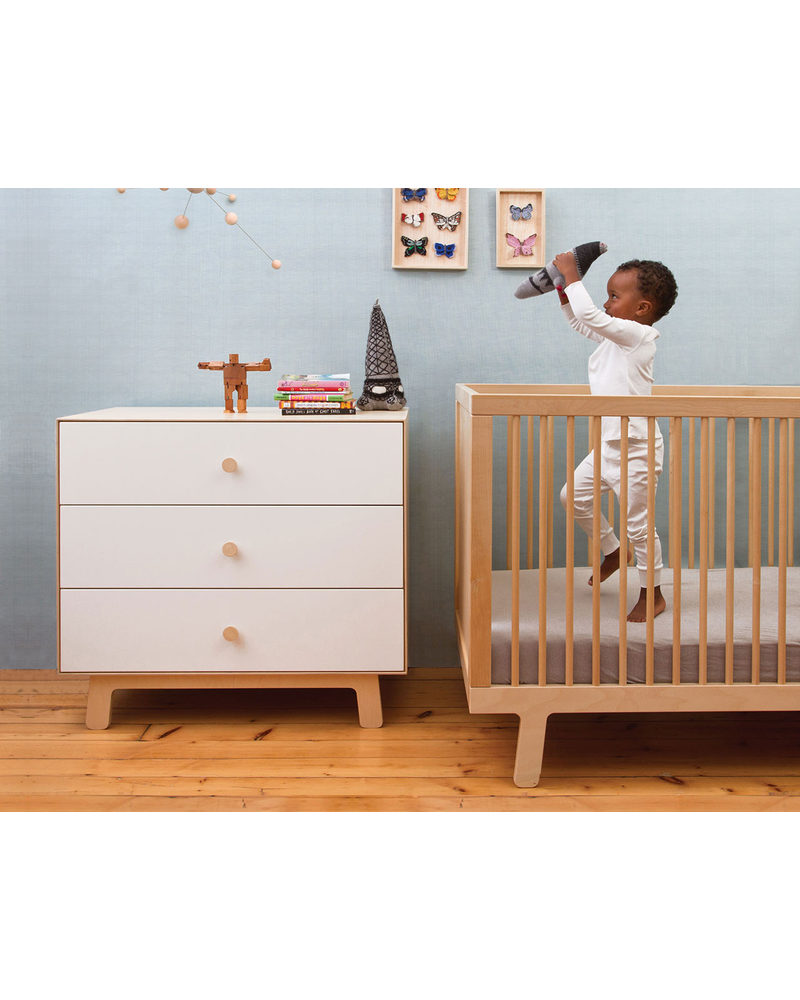 Baby bed turns into toddler bed - Oeuf Sparrow Crib Birch Converts Into Sparrow Toddler Bed Cots Cotbeds