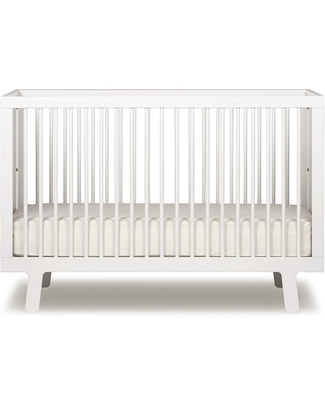 Oeuf Sparrow Crib - Lacquered White (converts into Sparrow Toddler Bed) Cots & Cotbeds