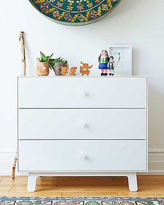 Oeuf Sparrow Merlin 3 drawer dresser in total white Dressers