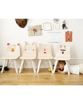 Oeuf Teddy Bear Ears Play Chair - Set of 2 - Birch Chairs