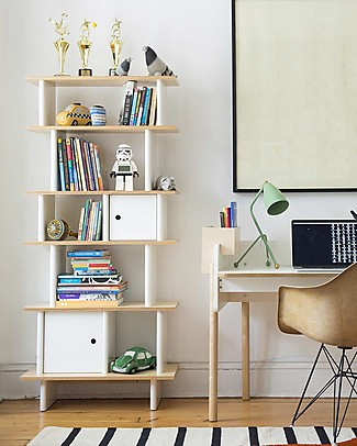 Oeuf Vertical Mini Library - Birch Bookcases