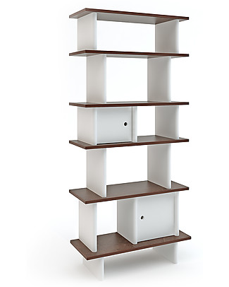 Oeuf Vertical Mini Library - Walnut Bookcases