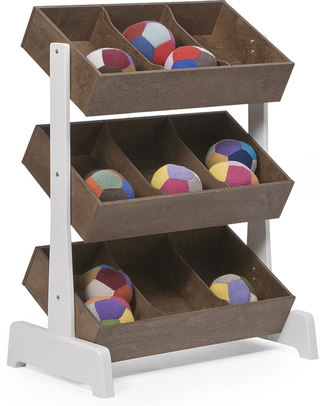 Oeuf Wooden Toy Store - White & Walnut Shelves