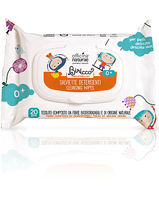 Officina Naturae Cleansing Wipes with Organic Quince, 20 pieces Baby Wipes