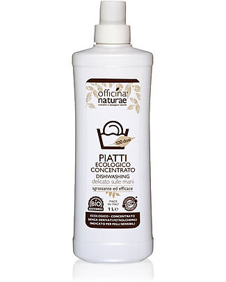 Officina Naturae Eco-friendly Washing Up Liquid, 1 lt - Effective and gentle on the skin Home Cleaning