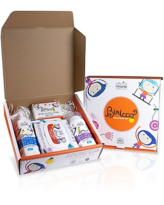 Officina Naturae Gift Box Baby Biricco 6m - Includes 4 great organic products for the baby! Kit Toilette Baby