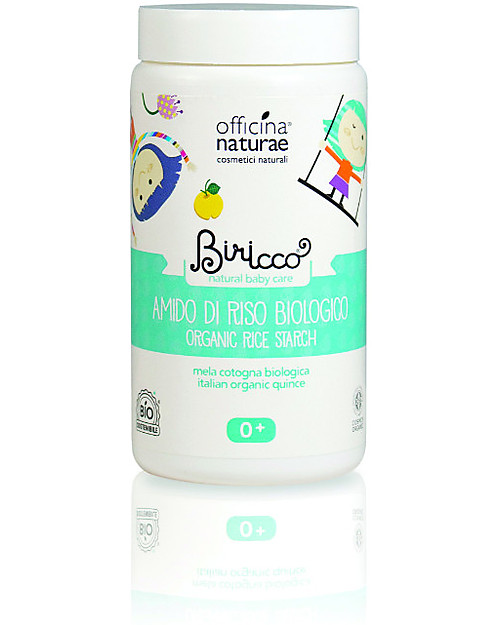 Officina Naturae Organic Rice Starch with Quince and Mauve, 100 gr - Delicate and soothening, perfect for irritated skin Baby Bath Wash and shampoo