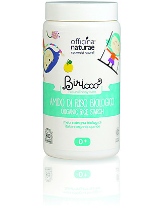 Officina Naturae Organic Rice Starch with Quince and Mauve, 100 gr - Delicate and soothening, perfect for irritated skin Detergents
