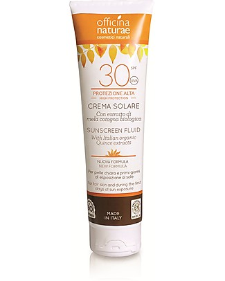 Officina Naturae Sunscreen Fluid SPF 30, High Protection  - 125 ml Sun Screen