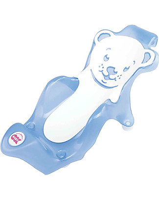 OKbaby Baby Buddy Bath Seat, Blue and White - in Slip-free Rubber! Baby Bath Tubs