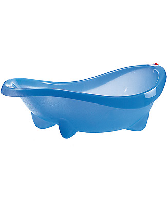 OKbaby Laguna Baby Bathtub, Blue Transparent - Wide and Spacious! Baby Bath Tubs