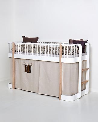 Oliver Furniture Curtain for Low Loft Bed Wood range – Natural Bunk Beds