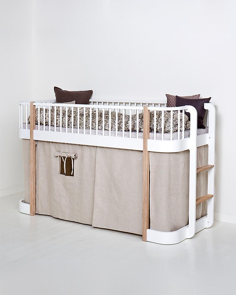 Letto A Castello Ikea Con Tenda.Oliver Furniture Curtain For Low Loft Bed Wood Range Natural