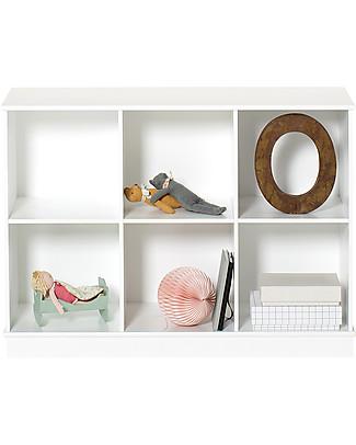 Oliver Furniture Horizontal Shelving Unit with Base 3x2, Wood range  Shelves