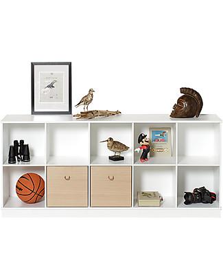 Oliver Furniture Horizontal Shelving Unit with Base 5x2, Wood range  Shelves