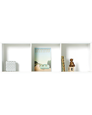Oliver Furniture Horizontal Shelving Unit with Support 3x1, Wood range – To hang on the wall! Shelves
