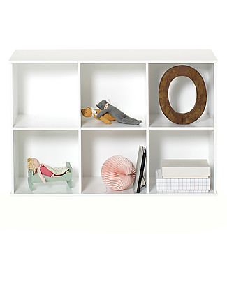 Oliver Furniture Horizontal Shelving Unit with Support 3x2, Wood range – To hang on the wall! Shelves