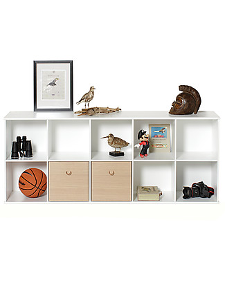 Oliver Furniture Horizontal Shelving Unit with Support 5x2, Wood range – To hang on the wall! Shelves