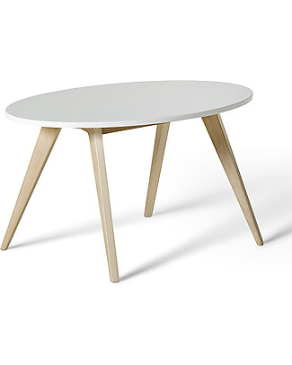 Oliver Furniture Kids Table, Ping Pong range, Oak/White Tables And Chairs
