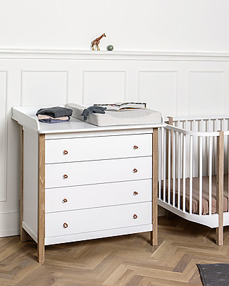 Oliver Furniture Nursery Dresser Wood Range , Natural – Removable top, also great for adults! Dressers
