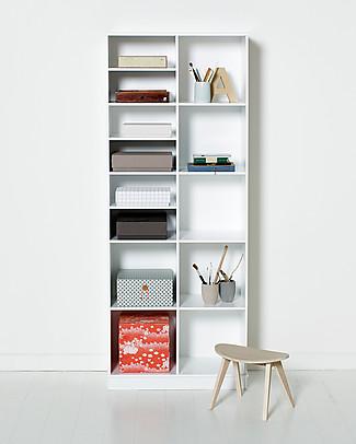 Oliver Furniture Vertical Shelving Unit with Base 2x5, Wood range Shelves