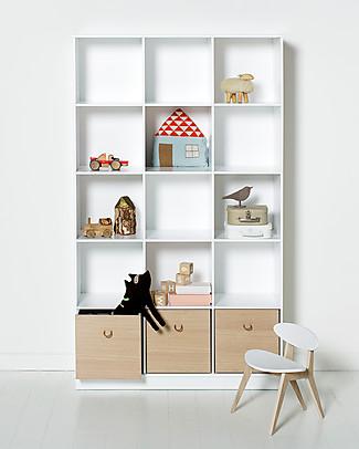 Oliver Furniture Vertical Shelving Unit with Base 3x5, Wood range Shelves