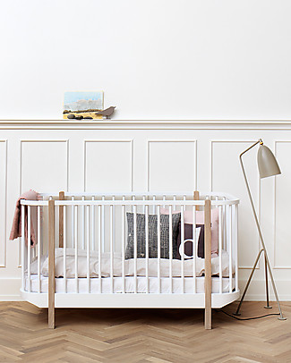 Oliver Furniture Wood Cot, Natural Wood, 70x140 cm – Convertible with modular structure Cots & Cotbeds