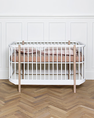 Oliver Furniture Wood Cot, White, 70x140 cm – Convertible with modular structure Cots & Cotbeds