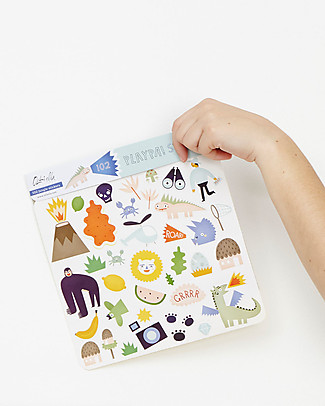 Olli Ella 102 Playpa Stickers, Jungle - Colorful and Fun! Stickers & Stamps Sets