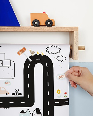 Olli Ella 102 Playpa Stickers, Road - Colorful and Fun! Stickers & Stamps Sets