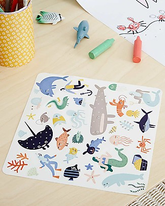 Olli Ella 105 Playpa Stickers, Oceans - Colorful and Fun! Stickers & Stamps Sets