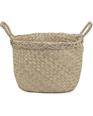 Olli Ella Billy Basket Large, Natural – Handmade! Toy Storage Boxes