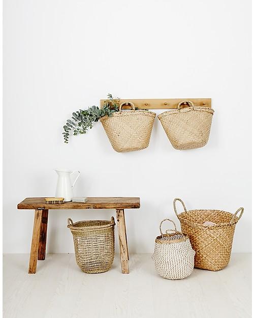 Olli Ella Billy Basket Large, Natural - Handmade! Toy Storage Boxes